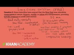 How To Write An Ap Euro Free Response Essay World News AP US history long essay example     US History   Khan Academy