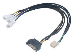 <b>Кабель</b>-<b>разветвитель akasa flexa</b> fp3s smart pwm black braided ...
