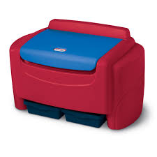 Little Tikes Sort 'N Store Kids Toy <b>Storage Chest</b>, <b>Red</b> and Blue ...