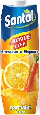 santal нектар active life апельсин морковь 1 л