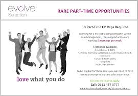 evolve selection medical and pharmaceutical s recruitment evolve selection are currently recruiting for exciting and rare new part time opportunities a dynamic and supportive pharmaceutical organisation