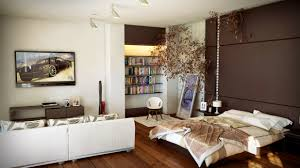 bedroom design idea:  one room apartment design