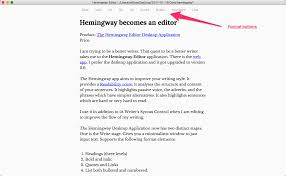 hemingway now writes and edits ipadpedia hemingway write stage