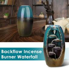 Outivity Ceramic <b>Backflow Incense Holder</b> Waterfall Incense Burner ...