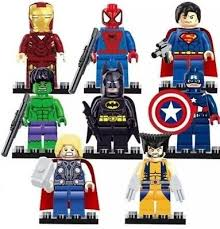 <b>8 Pcs Marvel Avengers</b> Super Hero Comic Mini Figures DC ...