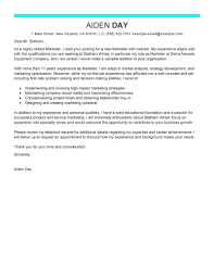 Sample Cover Letter For A Marketing Job Vntask com