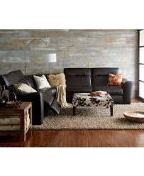 room furniture leather sectionals versachi black