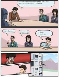 Xbox 360 Entertainment Improvement Meeting | Boardroom Suggestion ... via Relatably.com