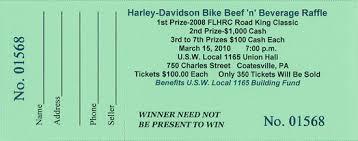 Raffle Ticket Software ... Harley Raffle Green Ticket ...