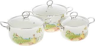 <b>Набор эмалированной посуды</b> Zeidan, Z-80612, с крышками, <b>6</b> ...