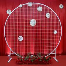 New <b>wedding circle</b> mesh arch <b>wedding</b> background mesh <b>screen</b> ...
