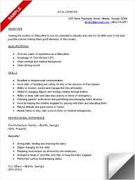 babysitter resume sample template   themysticwindowdownload babysitter resume template c ram d