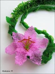 Волшебство из <b>серебристых</b> нитей бисера | <b>Seed bead</b> flowers ...