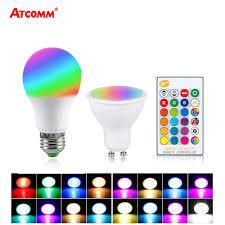<b>Ampoule LED E27</b> GU10 Colorful RGB Bulb <b>5W</b> 10W 15W 85 265V ...