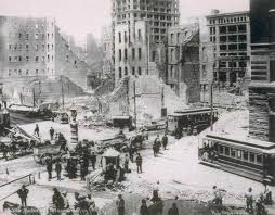 「At 5:13 a.m., an earthquake estimated at close to 8.0 on the Richter scale strikes San Francisco, California, killing hundreds of people as it topples numerous buildings.」の画像検索結果