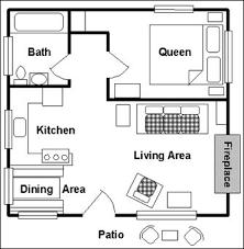 One room cabins  Cabin floor plans and Floor plans on Pinterestone room cabin floor plans   View Floor Plan  main floor