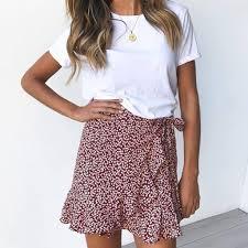 Womens <b>Sexy</b> Chic <b>Retro</b> Summer Skirts <b>2020</b> High Waist Ruffles ...