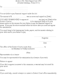 Child Support Rules 1992 (SR 1992/58) (as at 03 September 2007 ... Section 190, Child Support Act 1991 (General heading—Form CS 1) To: You are liable to pay financial support under the Act. The amount of $............. was ...