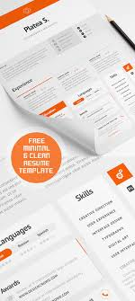 cv resume templates psd mockups bies graphic minimal and clean resume template