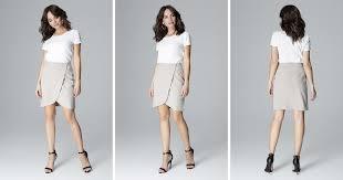 Grey Wrap <b>Skirt</b> | <b>LENITIF</b> | SilkFred