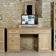 baumhaus mobel oak large hidden office twin pedestal desk baumhaus mobel oak large 3