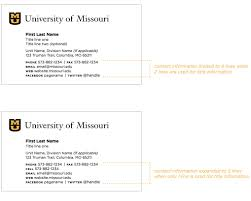 business cards mizzou identity standards university of mu business cards