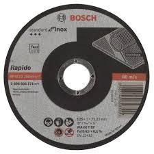 <b>Диск отрезной</b> 125x1x22.23 BOSCH Standard for Inox - Rapido ...