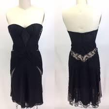Zac Posen Dresses | Nwt <b>Strapless Black</b> Lace <b>Corset</b> Dress ...