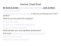 sacpronet mock interviews workshop agenda review position interview cheat sheet be ready to answer common interview questions such as these common interview