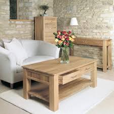 baumhaus mobel solid oak four drawer coffee table cor08d baumhaus mobel solid oak drawer