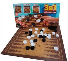 <b>Игра</b> НИШ003 3в1 Шашки, шахматы и нарды <b>Игрушки Поволжья</b> ...