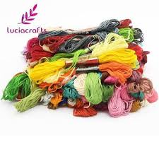 <b>Random Colors 100pcs</b> Cross Stitch Floss Rainbow Color ...