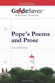 Pope     s Poems and Prose  by Alexander Pope GradeSaver