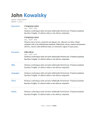 free resume templatesdownload cv sample