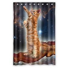 GCKG <b>Funny Bacon Cat in</b> Space Pattern Waterproof Polyester ...
