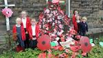 Chinley Primary School pupils produce their own 'Weeping Window'