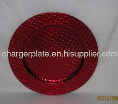 charger plates decorative: red plastic charger plate for sale sell red foil pp plate lacquer plates