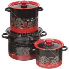 <b>Набор эмалированной посуды Сибирские</b> товары Рябинка 17 ...