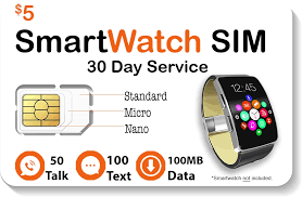 $5 <b>Smart Watch SIM Card</b> For 2G 3G 4G LTE GSM Smartwatches ...