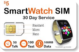 $5 <b>Smart Watch SIM Card</b> For 2G 3G 4G LTE GSM Smartwatches ...