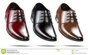 Set Of A <b>Fashion Elegant Black Red</b> And Brown Men`s Shoes. 3d ...
