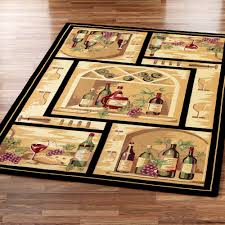 grapes grape themed kitchen rug: image of wine and grapes kitchen decor