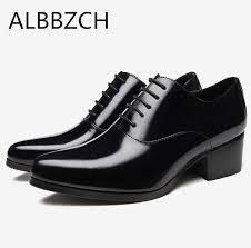 vintage formal shoes mens business dress brogue for wedding party slip on flats platform tassels height increasing
