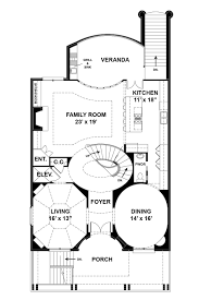 Loretto House Plans   Home Plans By Archival DesignsLuxury Multi Generational House Plan Loretto First Floor