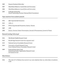 A Princeton psychology professor has posted his CV of failures     cv failure    jpg