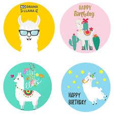 Llama Stickers Adhesive Stickers DIY <b>Decoration Cartoon Cute</b> ...