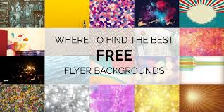 where to the best flyer backgrounds