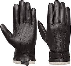 Men's <b>Touchscreen Genuine Leather Gloves</b> - Acdyion Winter Warm ...