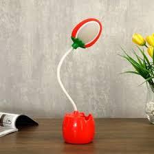 <b>Лампа настольная</b> 85291/1 <b>LED 3Вт</b> USB AKB красный 9х7х36 см ...