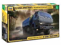<b>Сборная модель ZVEZDA Российский</b> трехосный грузовик К ...